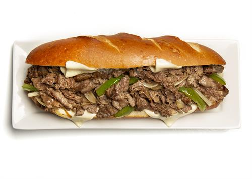 Gary's classic cheese-steak sandwich