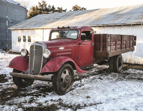 Winter on a Nebraska Farm Book Page