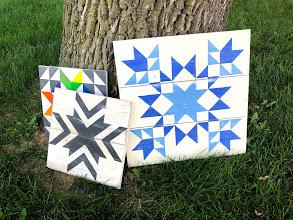 Handpainted quilt blocks