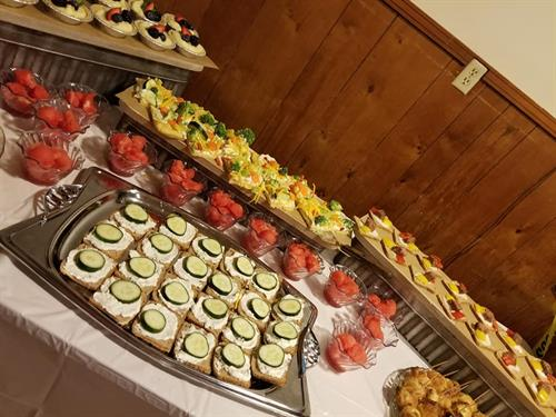 We also provide catering services.