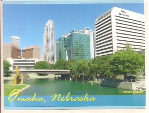Omaha Photo Skyline Greeting Card