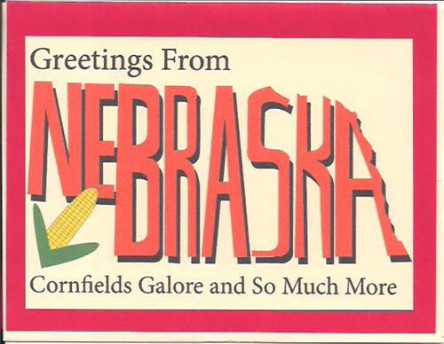 Nebraska Cornfields Galore Greeting Card