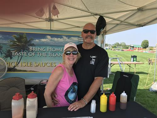 Steve and Heidi at Balloon and Wine Festival, August 2018