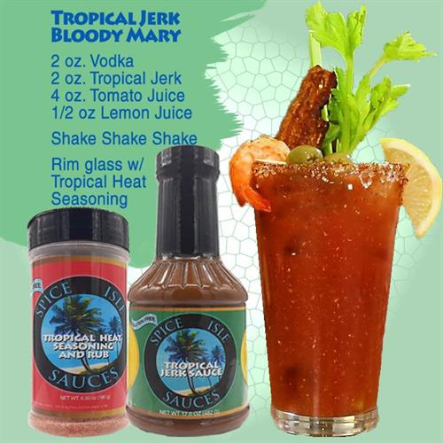 Tropical Jerk Bloody Marys