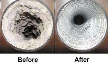 Before & After Dryer Vent
