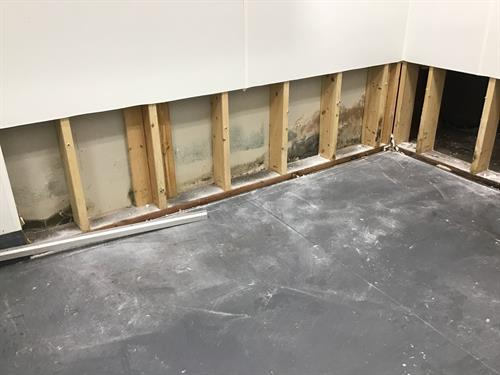 Water Damage to a mold job