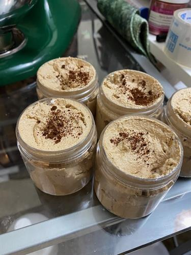 Whipped Soap Sugar Scrub in coffee
