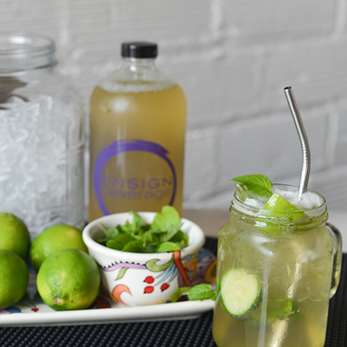 Ensign Beverage's kombucha makes a wonderful mixer. Check out our website for a list of recipes!
