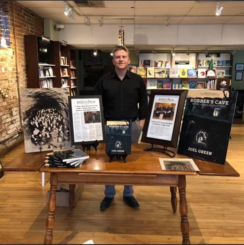 Green has traveled the Midwest promoting his book and the Robber's Cave Tours.