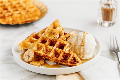 Heavenly Waffles Bananas Foster