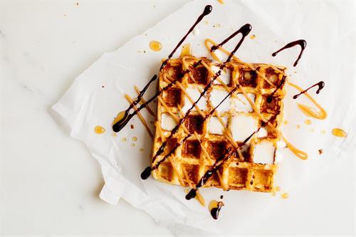 Heavenly Waffles PB&J