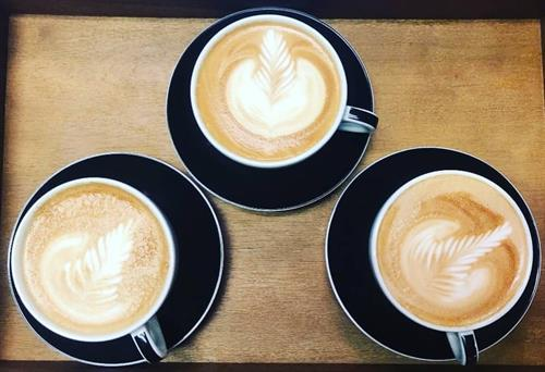 latte art in a handcrafted drink