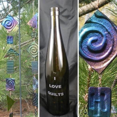 Iridescent Glass Windchime by Glenn Trembley