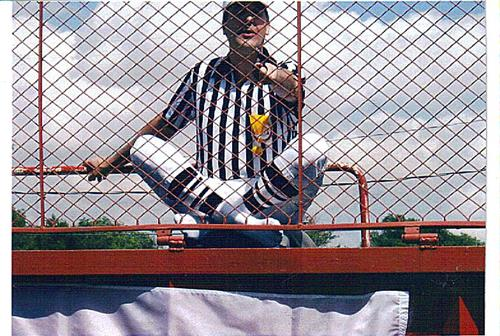 """Dave """"the Ref"""" in the dunk tank for Heritage Days!"""