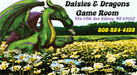 Daisies and Dragons Game Room