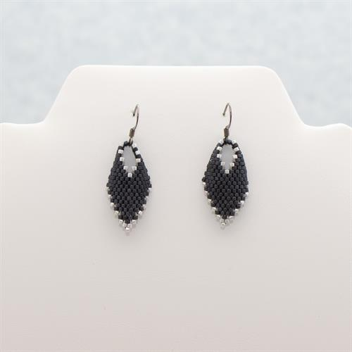 Black Beaded Earrings