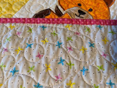 quilt back and binding