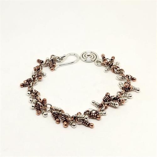 Mixed Metal Balled Bracelet