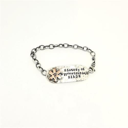 Sterling Silver and Copper Medical Alert Bracelet