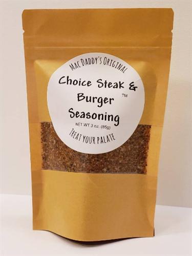 Choice Steak & Burger Seasoning