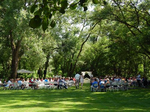Red Road Herbs is a perfect place for outdoor weddings