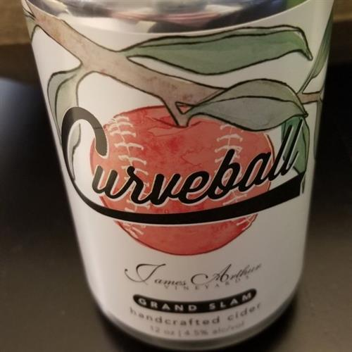 Curveball Hard Cider made by James Arthur Vineyards
