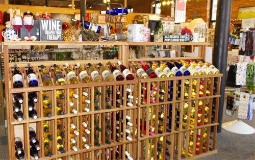 Wine rack at From Nebraska Gift Shop
