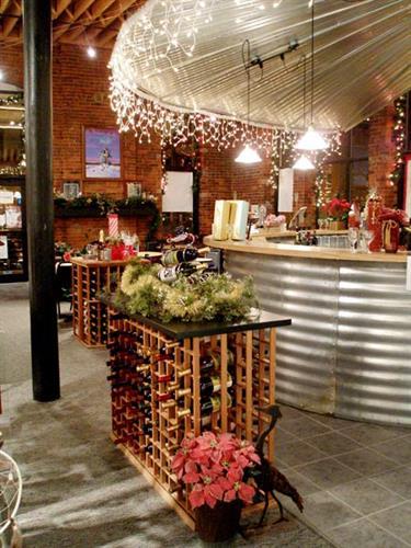 Wine Tasting Bar made from a real grain bin
