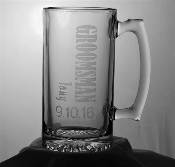 Etched Beer Mug