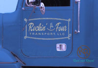 Rockin' 4 Transport semi decals from Rock and Rowel Creative Studio