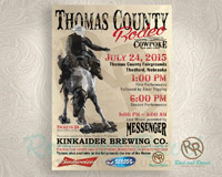 Thomas County rodeo poster from Rock and Rowel Creative Studio