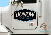 Bonow Farms semi decals from Rock and Rowel Creative Studio