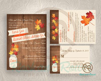 Fall wedding set from Rock and Rowel Creative Studio