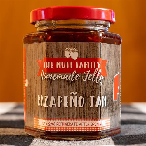 Razapeno Jam (Raspberry Jalapeño Jam)