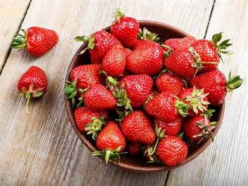 Strawberries for out Strawberry Rhubarb Jam and our Strawberry Jalapeño Jam
