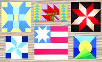 Collection of Barn Quilts that Rustic Milling & Craft painted