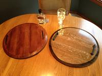 Wine Barrel Serving Trays