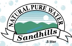 Sandhills Natural Water 1/2 liter labels