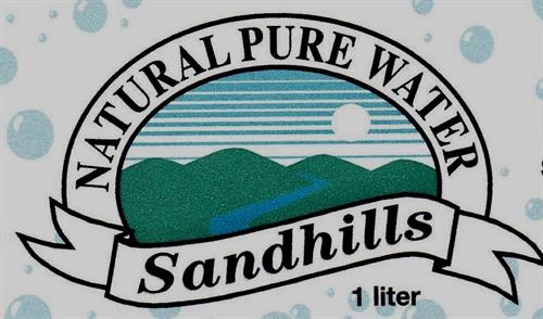 Sandhills Natural Water 1-liter labels
