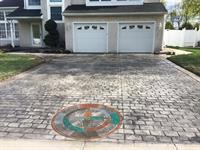 Beautiful Stamped Driveway With Accent