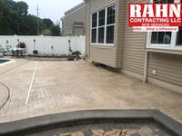 New Integrated Color, Stamped and Sealed Concrete Patio