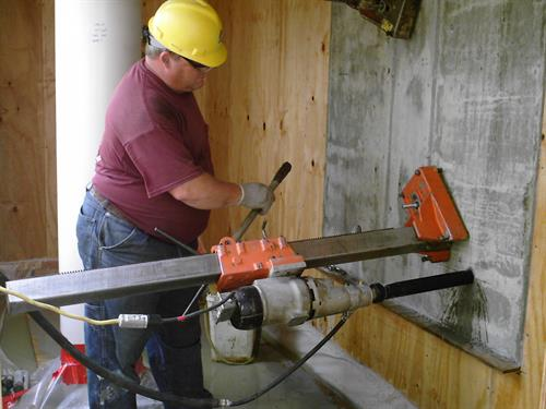 Concrete Wall Drilling