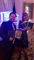 2017 MAME Awards. Chuck Schaser ~ Graphic Arts Director, Michele Low ~ Marketing Director