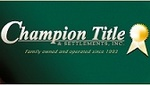 Champion Title & Settlements