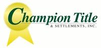 Champion Title & Settlements