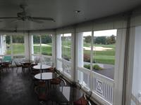 Bent Creek Country Club - Clear vinyl drop curtains installed around the dining patio