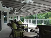 Stay cool and dry under a stationary deck canopy