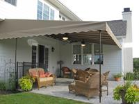 Patio cover with ceiling fans - Sunbrella fabric