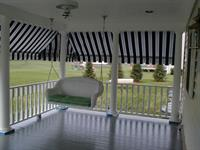 Porch awnings create a cozy place to relax!