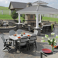 Outdoor Patio Dining and Entertaining Area